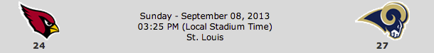 Arizona Cardinals @ St Louis Rams