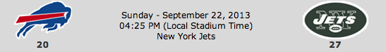 Buffalo Bills @ New York Jets