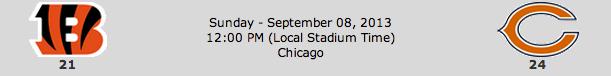 Cincinnati Bengals @ Chicago Bears