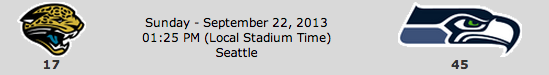 Jacksonville Jaguars @ Seattle Seahawks