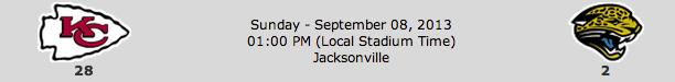 Kansas City Chiefs @ Jacksonville Jaguars