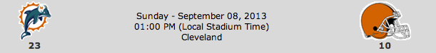 Miami Dolphins @ Cleveland Browns