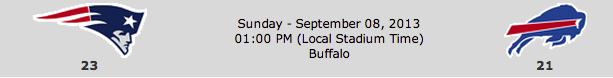 New England Patriots @ Buffalo Bills
