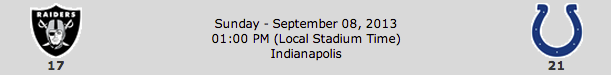Oakland Raiders @ Indianapolis Colts