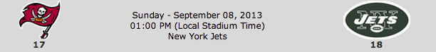 Tampa Bay Buccaneers @ New York Jets