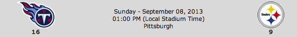 Tennessee Titans @ Pittsburgh Steelers
