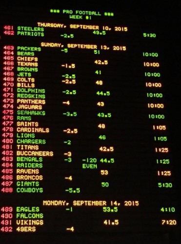 steelers bengals betting line lines for nfl week 2