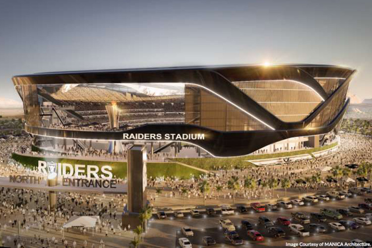 Raiders Stadium Image Manica Architecture